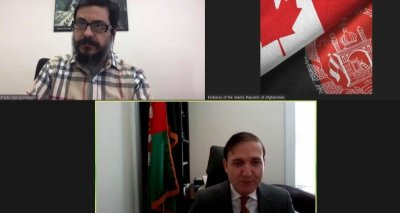 DCM Mujtaba Ahmadi Meets Virtually with His Counterpart from the Embassy of Peru in Canada