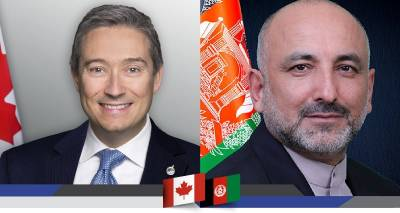 H.E. Mohammad Haneef Atmar and the Honourable François-Philippe Champagne Hold a Virtual Meeting