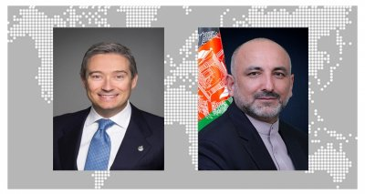 H.E. Mohammad Haneef Atmar and the Honourable François-Philippe Champagne Hold a Phone Conversation
