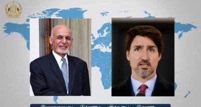 President Ghani and Prime Minister Trudeau Hold a Phone Conversation