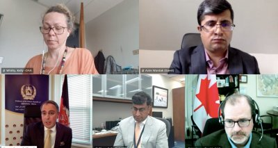 Ambassador Soroosh Meets Virtually with Global Affairs Canada Officials