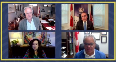 Ambassador Soroosh Speaks in a Special Virtual Session About Current Situation in Afghanistan
