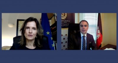 Ambassador Soroosh Meets Virtually with the Ambassador of the European Union to Canada