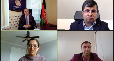 Ambassador Soroosh Meets Virtually with the President of Afghanistan Women Chamber of Commerce and Industry