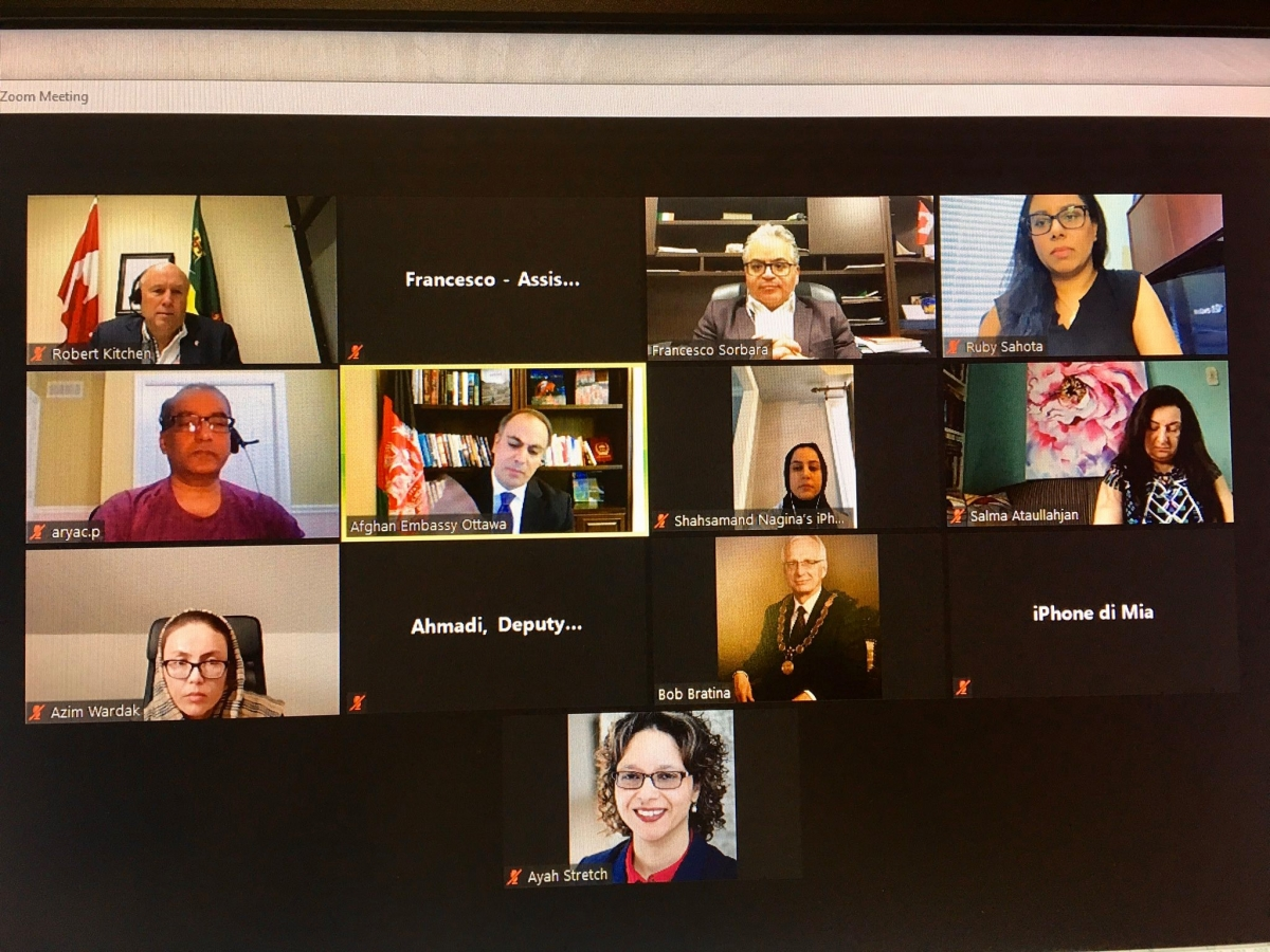 Ambassador Soroosh Joins the Virtual General Meeting of the Canada-Afghanistan Parliamentary Friendship Group